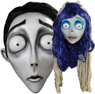 Couples Cosplay Corpse Bride Fancy Dress Masks