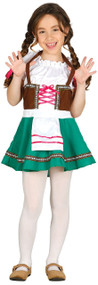 Girls Traditional Bavarian Fancy Dress Costume