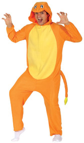 Adults Fire Lizard Fancy Dress Costume