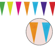 Multi Coloured 10 Meter Paper Bunting Party Decoration