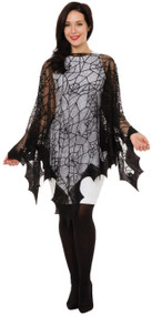 Ladies Spider Web Fancy Dress Cape