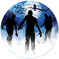 Large Halloween Zombie Party Plates
