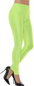 Ladies 80s Neon Green Fancy Dress Leggings