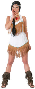 Ladies White Indian Fancy Dress Costume