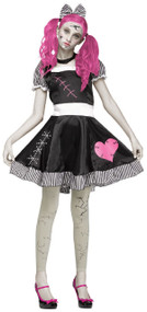 Older Girls Broken Doll Fancy Dress Costume