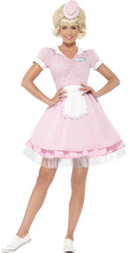 Ladies American Diner Girl Fancy Dress Costume