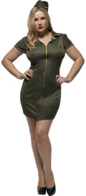 Ladies Curvy Sexy Soldier Fancy Dress Costume