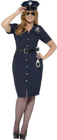 Ladies Curvy Sexy Cop Fancy Dress Costume