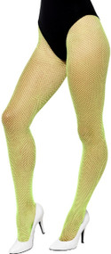 Ladies Neon Green Fishnet Tights