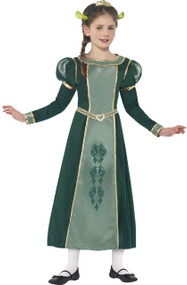 Girls Princess Fiona Fancy Dress Costume