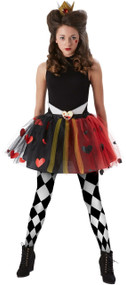 Teen Queen Of Hearts Fancy Dress Costume Kit