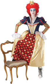 Ladies Official Queen Of Hearts Fancy Dress Costume