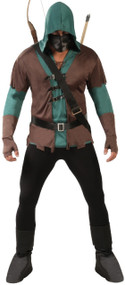 Mens 6pc Archer Fancy Dress Costume