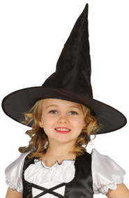 Childrens Black Witch Fancy Dress Hat