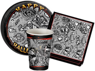 Halloween Dark Zombie 36 Pc Tableware Decoration Set