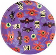 Halloween Purple Plates Party Accessory