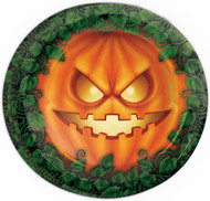Halloween Pumpkin Plates Party Accessory
