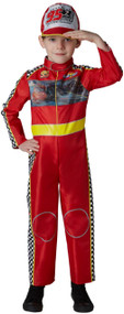 Kids Deluxe Racing McQueen Fancy Dress Costume