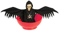 Halloween Animated Skull With Wings Bowl Party Accessory