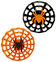 Pack Of 3 Halloween Spiderweb Decorations