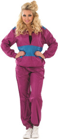 Ladies 1980s Shell Suit Fancy Dress Costume