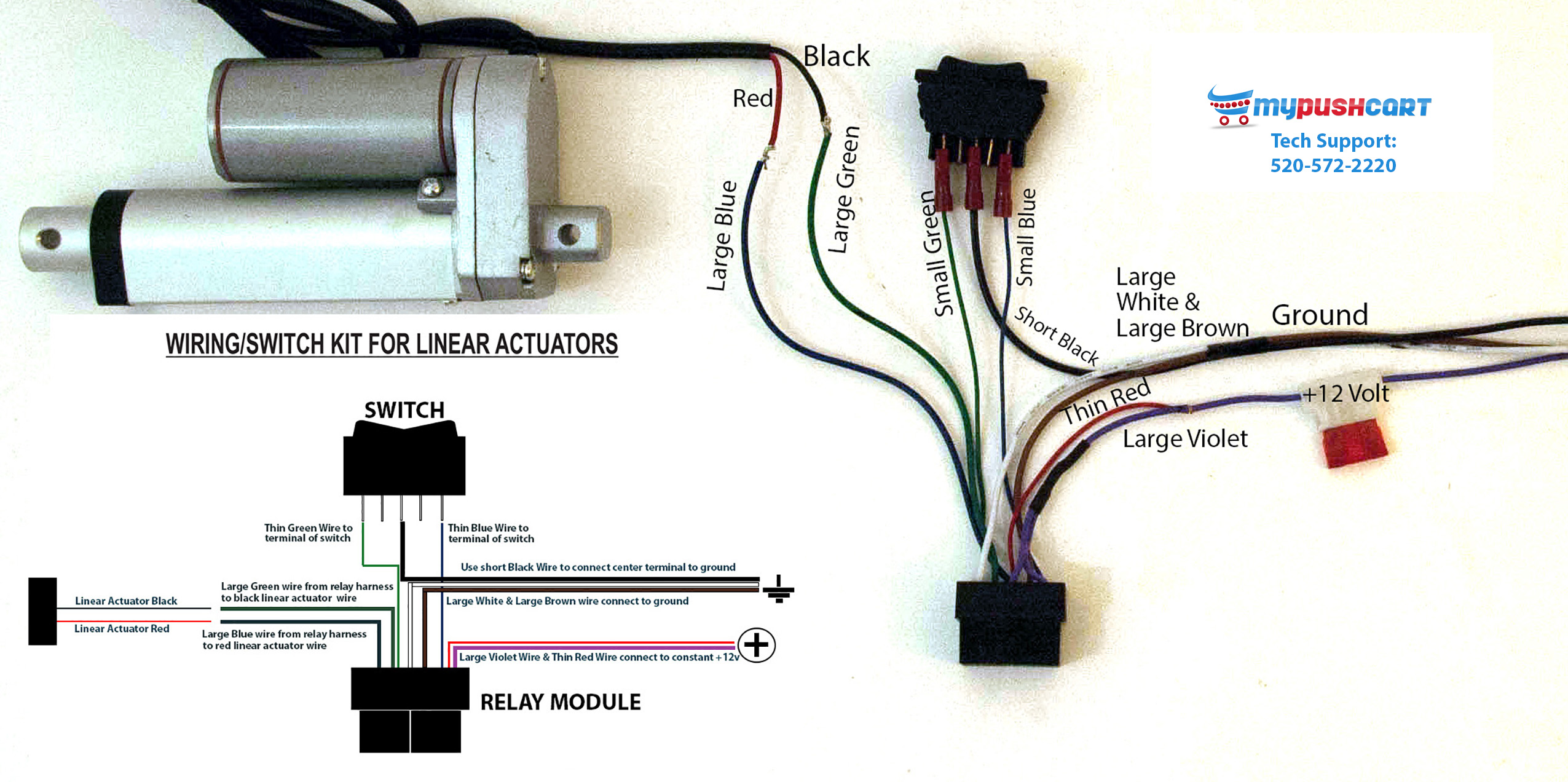 wiring switch relay kit for linear actuators mypushcart return policy