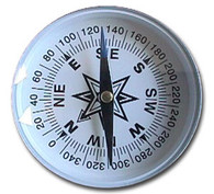 "Large, 3"" Round Compass"