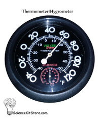Dual Scale Thermometer/Hygrometer, Wall Mount