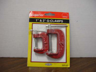 Metal G-Clamps, Pack of 2