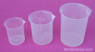 Plastic Beakers, Set of 3