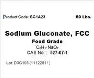 Sodium Gluconate, FCC, 99.9%