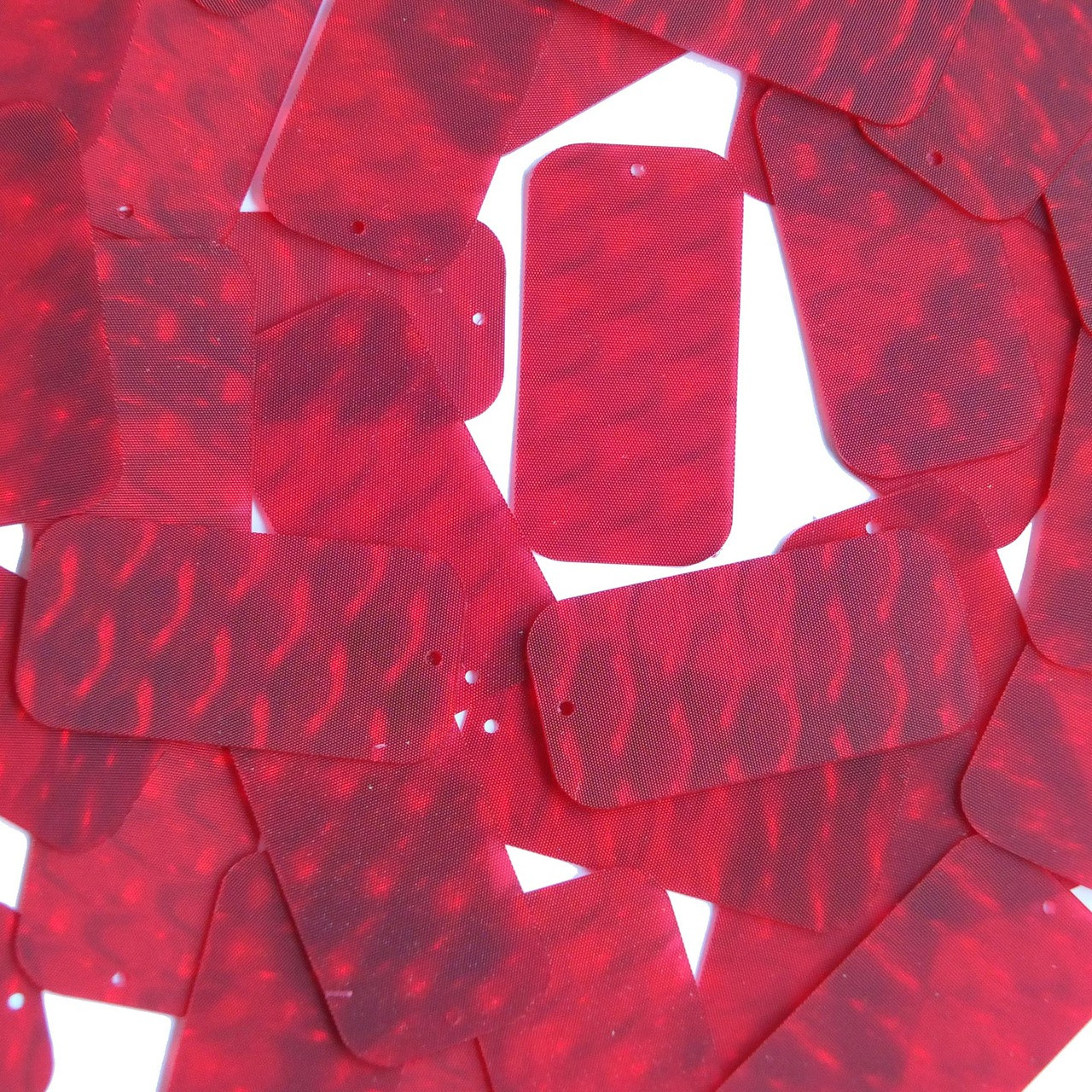 3d Red Reflectors : Rectangle sequin quot red d three dimensional reflector