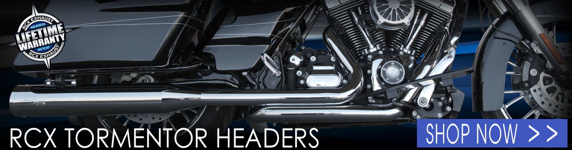 RCX Exhaust Tormentor Headers may look like your traditional true dual header, but there is a secret in the design that you can feel when you crack the throttle! Lifetime warranty.