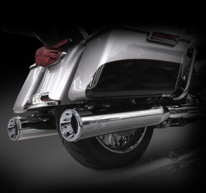 "RCX Exhaust 4.5"" Slip-on Mufflers for 2017 Harley Touring, Chrome with Torx Chrome Tips."