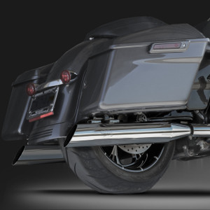 "RCX Exhaust 4.0"" Slip-on Slash Up Mufflers, Chrome."