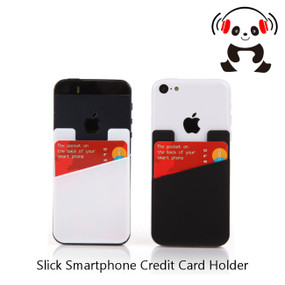 2 Pack: Credit Card Sleeve Cases for iPhone and Galaxy Smartphones