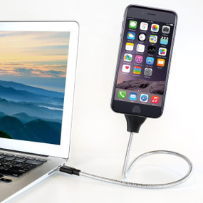 Flexible Cable Charger Mount- For iPhone and Android Devices