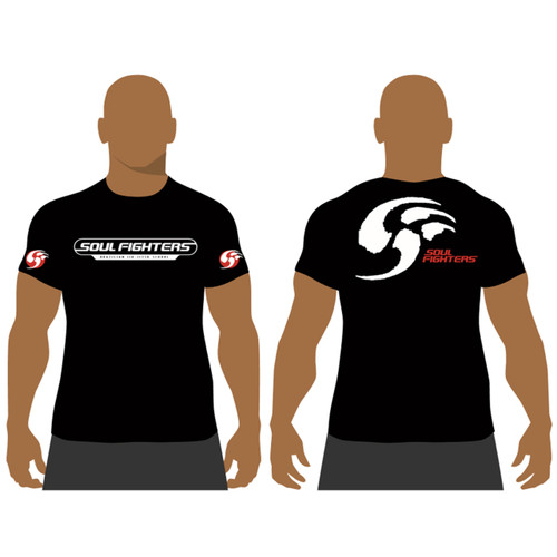 Men's Black Soul Fighters School T-shirt