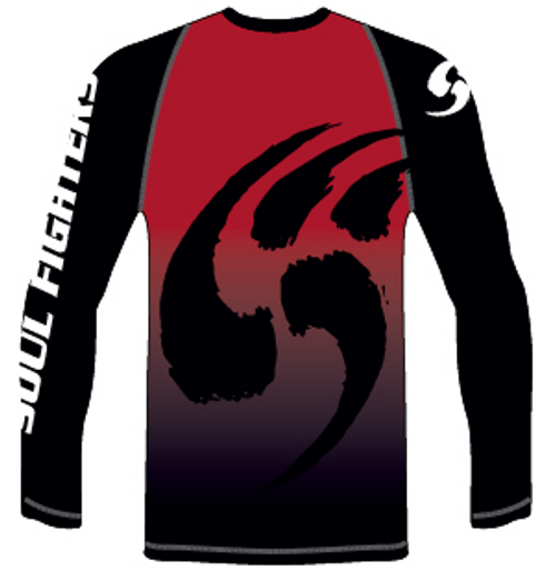 Soul Fighters Red Claw Long Sleeve Rash Guard