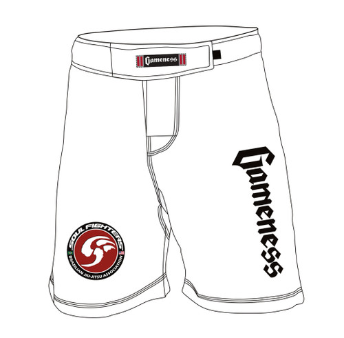 Gameness Flex Board Shorts WHITE