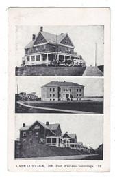 Cape Cottage, Maine Postcard:  Fort Williams Buildings