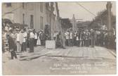 Marshalltown, Iowa Real Photo Postcard:  Masonic Temple Cornerstone Laying