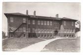 Randolph, Nebraska Real Photo Postcard:  High School