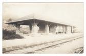 Hollister, Missouri Real Photo Postcard:  Railroad Station