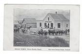 Kemptville, Nova Scotia Postcard:  Head Yoke Oxen & Store