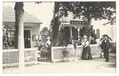 Poultney, Vermont Real Photo Postcard:  J. Lewis Ice Cream Parlor