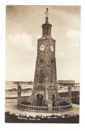 Daytona Beach, Florida Real Photo Postcard:  Monument