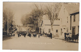 Cherryfield, Maine Real Photo Postcard:  Downtown Parade