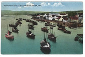 Barrachois, Gaspe, Quebec, Canada Postcard:  Fishing Fleet