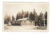 Shirley, Maine Real Photo Postcard:  The Ledges Cabins & Gas Station
